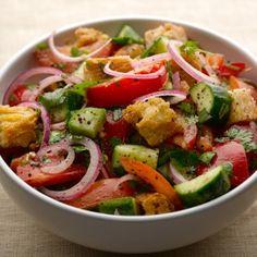 Seriously zesty bread salad