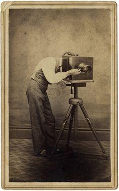 1860s Photographer Behind Camera Occupational Neat Inscription | eBay