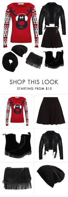 """""""The ugly sweater outfit idea"""" by x3theresax3 on Polyvore featuring ONLY, Dr. Martens, White House Black Market, Free People and Wyatt"""