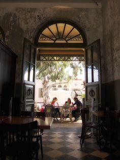 Coffee shop in old Tel Aviv train station.