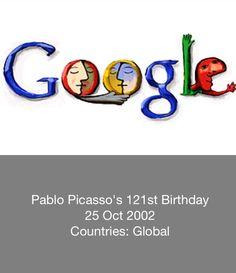 Pablo Picasso - 121th birthday - Google Doodle