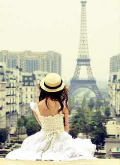 If I go to paris.. i would love to wear a fun dress and hat!