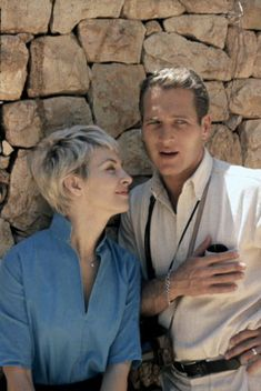#Sixties | Joanne Woodward and Paul Newman, by Leo Fuchs, 1960