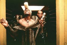 Chris Tucker as the funny crazy dude in The Fifth Element.