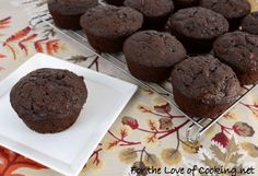 These are lovely!! Double Chocolate Zucchini Muffins and then I added some fresh picked blackberries and a few stripes of cream cheese frosting!!  mmm, mmm, mmm :)