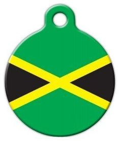 Jamaican National Flag Pet ID Tag for Dogs and Cats - Dog Tag Art * Review more details here : Dog tags for pets