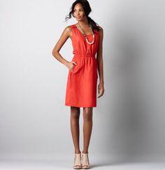 Loft sleeveless dress with AMAZING pockets! $79.50