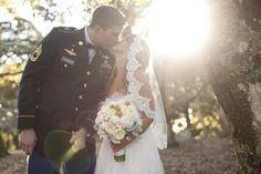 Gotta love the military uniform for weddings!