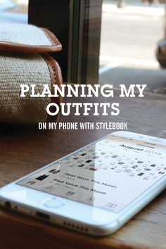 Really cool & useful idea> How I use Stylebook to plan what to wear using photos of my real clothes. - Planning My Outfits!