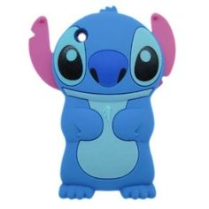 Blue Disney 3d Stitch Movable Ear Flip Soft Case Cover for Iphone 3g/3gs Xmas Gift,$2.50