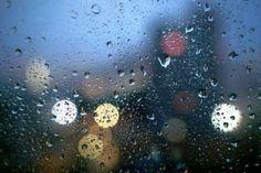 rain on window bokeh