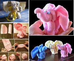 Elephant Washcloths - perfect baby shower gift.