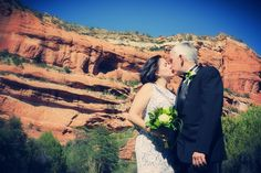 Simply Elope featured one of our intimate elopement weddings!! Enchantment in Sedona, Arizona is surrounded by Red Rock Mountains and creates a wonderful backdrop for any wedding or engagement portrait photographs!