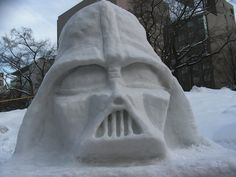 Instead of making a snowman, how about make a Star Wars snow sculpture instead? Enjoy this geeky collection of Star Wars favorites created in the snow. Winter Fun, Winter Snow, Snow Crafts, Snow Sculptures, Sculpture Ideas, Ice Art, Snow Art, Snow And Ice, Cute Disney