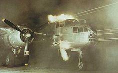B-25 Mitchell test firing all its guns!