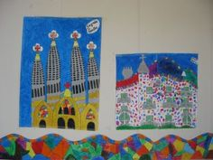 TREBALLEM GAUDÍ | Escola Sant Roc Projects For Kids, Art Projects, 3rd Grade Art, Spanish Art, Antoni Gaudi, High School Art, Art Programs, Art Lesson Plans, Art Club