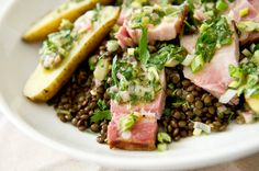 Recipe: Warm Lentil and Smoked Pork Belly Salad || Photo: Evan Sung for The New York Times