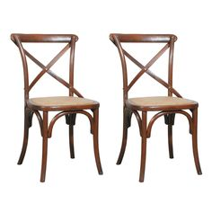 Furniture Classics 70023-BRN Bentwood Side Dining Chair (Set of 2)
