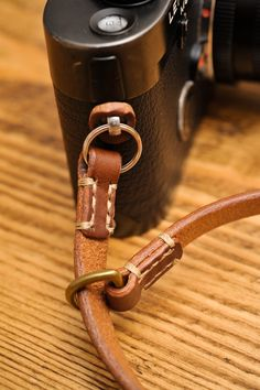 Thick Brown Leather Camera Wrist Strap for the Minimalist Shooter with Linen Stitching. Camera Wrist Strap, Leather Camera Strap, Camera Case, Leather Accessories, Leather Jewelry, Leather Craft, Natural Leather, Brown Leather, Leather Conditioner