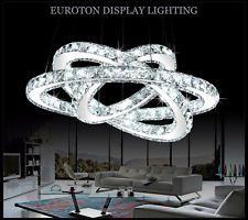 LED Lampada A sospensione 3210D Design Lusso K9 Cristallo cromo Anelli A