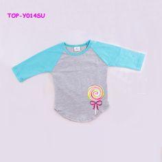 100% Cotton Cool Shirts Raglan Top Boutique Clothing Plain Children's Raglan T-Shirt