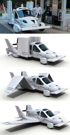 Terrafugia Transition - flying car.  it's about time, no? get yours now, for just 200k :)