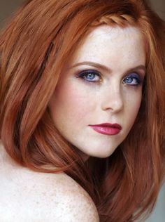 Image result for eye makeup for blue eyes red hair