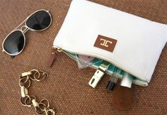 must have this makeup clutch (it's perfection!) jess lc for elizabeth dehn - also amazing gift idea!