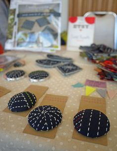 Sashiko! So you could make buttons, door handles etc.