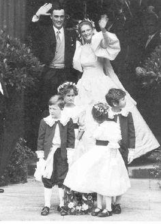 Prince Lorenz of Belgium, Archduke of Austria-Este married Princess Astrid of Belgium on 22 Sep 1984 in Brussels