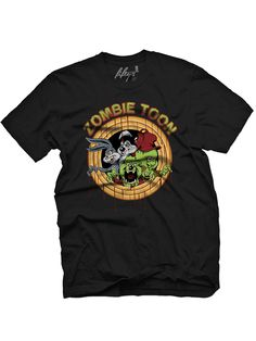 "Men's ""Zombie Toons"" Tee by Fifty5 Clothing (Black) #InkedShop #zombie #toons #graphictee #menswear"