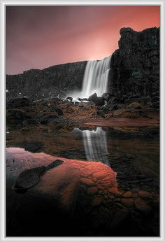 ✯ Reflected Waterfall - Iceland