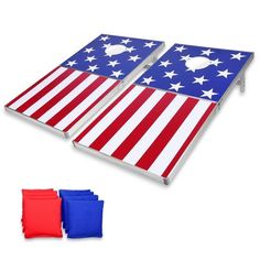 Shop GoSports Cornhole PRO American Flag Bean Bag Toss Game Set - American Flag - 4' x 2' - On Sale - Overstock - 28263369