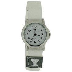 Girls First Holy Communion Analogue White Dial & White Velcro Strap Watch HOL04B