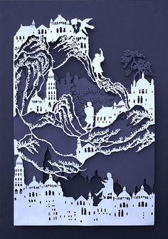 Papercut Silhouette, Alice In Wonderland, Paper Art, Hand Cut Out ...