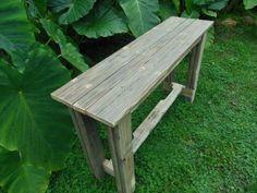 Pallet Wood Console Table | Pallet Furniture Plans