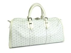 #Sale: was $1,650 now $1,411 ! #Goyard Boston Bag Canvas/Leather White(BF046898)