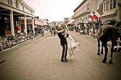 Downtown Mackinac Island Wedding
