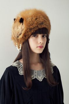Fox stole hat - thinking winter ♡