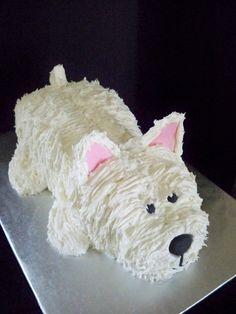 A Westie cake.  So cute!