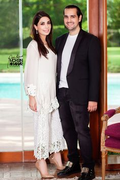 Maheen & Shahbaz Taseer for Hello! Beautiful Pakistani Dresses, Pakistani Formal Dresses, Pakistani Party Wear, Pakistani Outfits, Indian Dresses, Indian Outfits, Elegant Dresses, Casual Dresses, Indian Designer Outfits