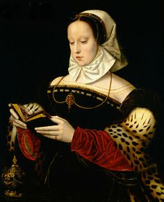 Reading and Art: Ambrosius Benson - Red velvet and leopard? I'm in.