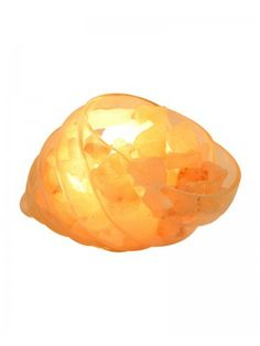 Decorative Dimmable Sea Snail Glass Lamp With Salt Crystals For Night Light  $80.95