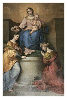Madonna col Bambino del neoraffaellita Gaspero Martellini (1857), Collegiata di San Giovanni Battista Toscana Fucecchio  #TuscanyAgriturismoGiratola