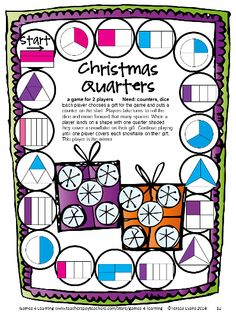 Christmas Math Games Second Grade by Games 4 Learning for bringing some fun, Christmas math into the classroom. This collection of Christmas math games contains 14 printable games $