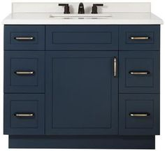 """Lincoln Single Vanity Size 34.5""""Hx42""""Wx22""""D Color MIDNIGHT BLUE"""