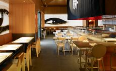 If your thinking about a night out in LA and are craving some descent sushi and a cocktail, be sure to check out Katsuya Hollywood. Just a few blocks down from the highland center you will find this trendy restaurant, owned by SBE entertainment, waiting for your company.
