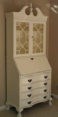 antique secretary desk re-fab