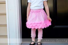 DIY Pretty Petal Skirt