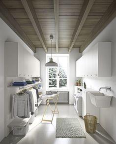 54 Amazing DIY Laundry Room Storage Shelves Ideas 54 Am… – Laundry Room İdeas 2020 Modern Laundry Rooms, Laundry Room Layouts, Laundry Room Remodel, Ikea Laundry Room, Laundry Decor, Laundry Baskets, Laundry Area, Laundry Closet, Küchen Design